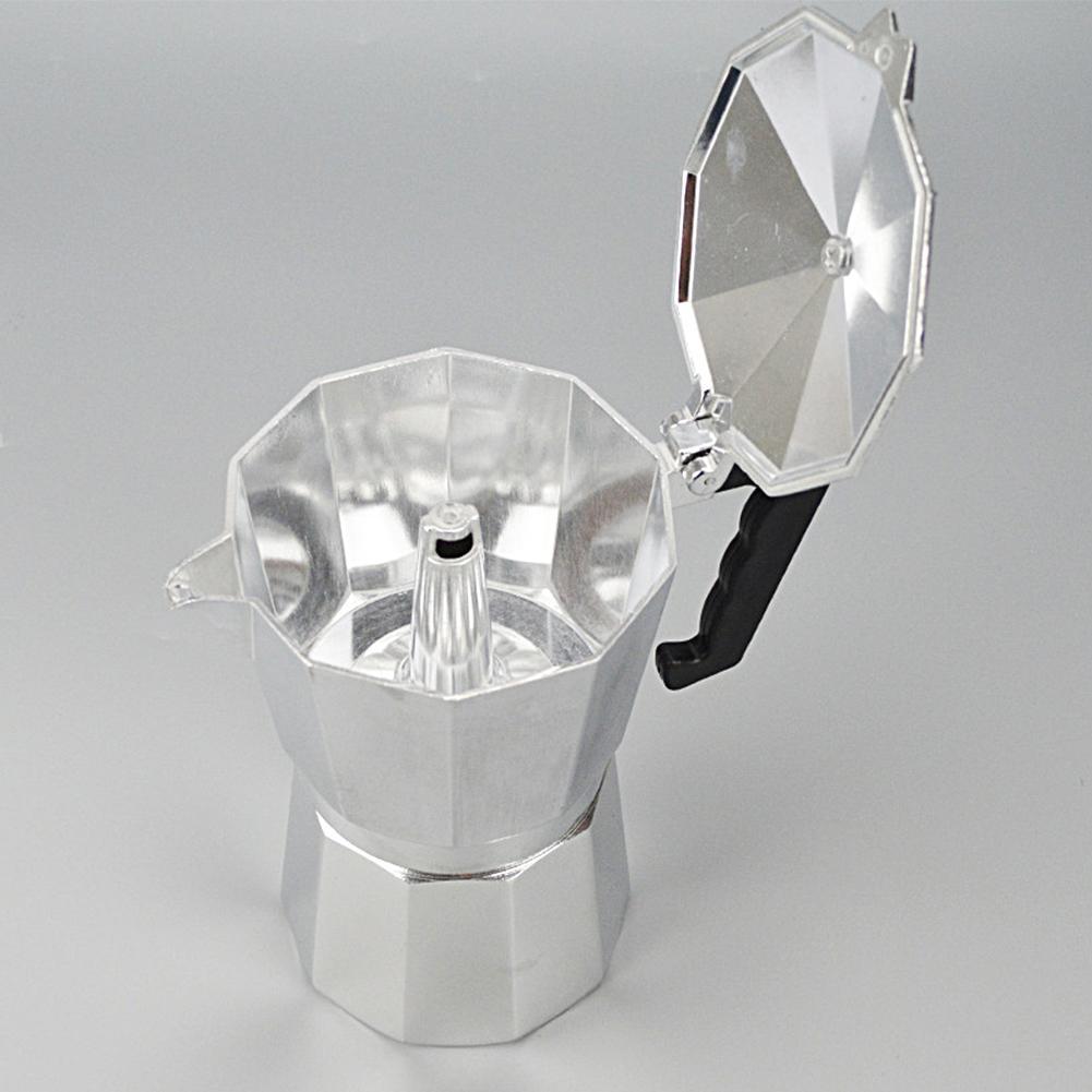 Aluminium 1/3/6/9/12 Cup Latte Mokka Kaffeekanne Stove Top-Hersteller-Werkzeug Easy Clean für Home Office Kaffee-Tee-Werkzeuge
