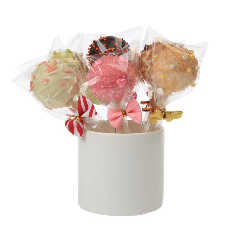 50PC Bowknot Sealing Фиксированные галстуки Упаковочные пакеты Герметизирующие металлические закручивающиеся галстуки Проволочные пакеты для виолончели Lollipop Candy Gift Bag Застежка
