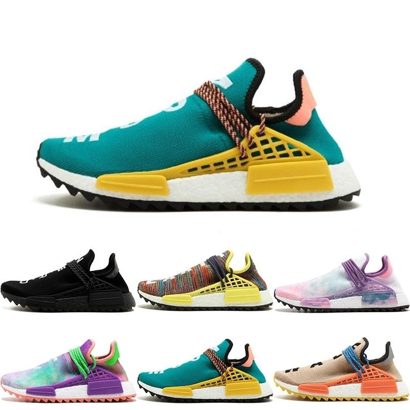Williams Brasil s Olympic Runner Raça humana Pharrell s Moda Running Shoes Raça Top Quality Humano Pharrell X Esportes Tênis Athletic