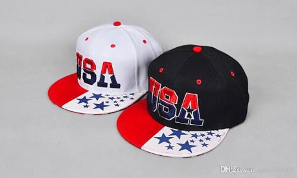 USA American Flag SnapbacUSA Sport Paris Men Style Cotton Adjustbale basebalk Cap Adjustable United States Baseball Cap Hat Cool And Fashion