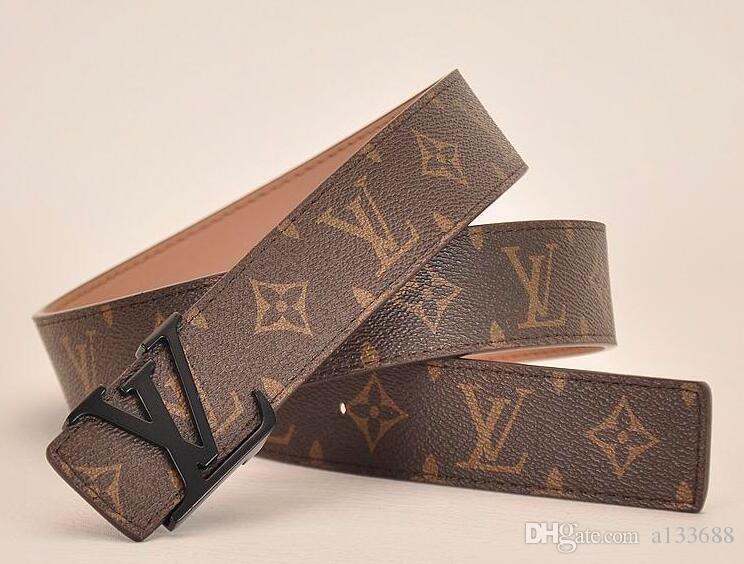 Retro Männer und Frauen mit Leder Lederschnalle doppelten Buchstaben Stern Web-Berühmtheit Gürtel
