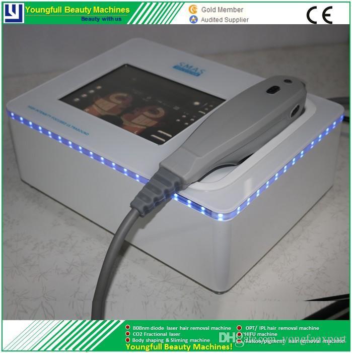 Hifu portatile ad alta intensità focalizzato ad ultrasuoni Hifu lifting del corpo hifu rimozione delle rughe macchina di bellezza della pelle che stringe 5 cartucce