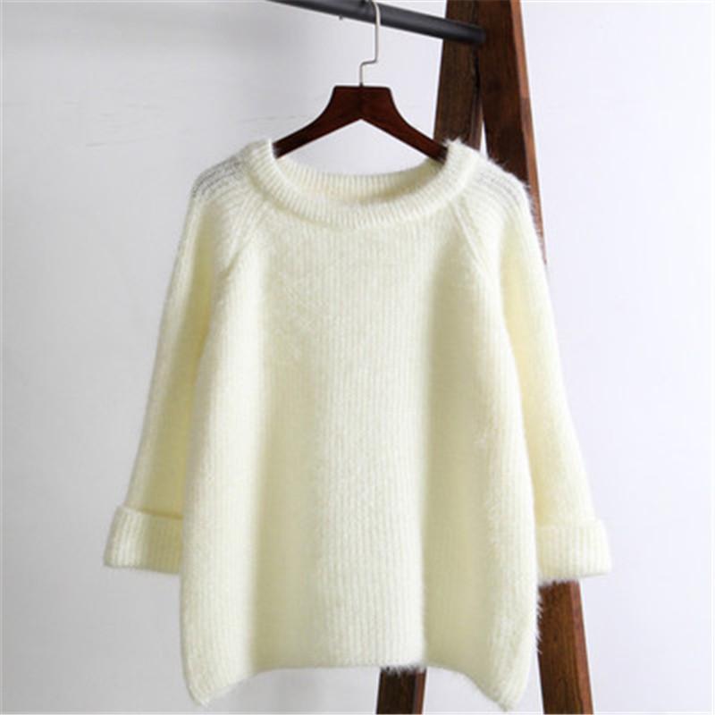 Мода 2020 Розовый свитер зимы женщин Новый Solid Color Stretch Сыпучие Короткие Пуловеры Сладкий Стиль одежды Женский Топ