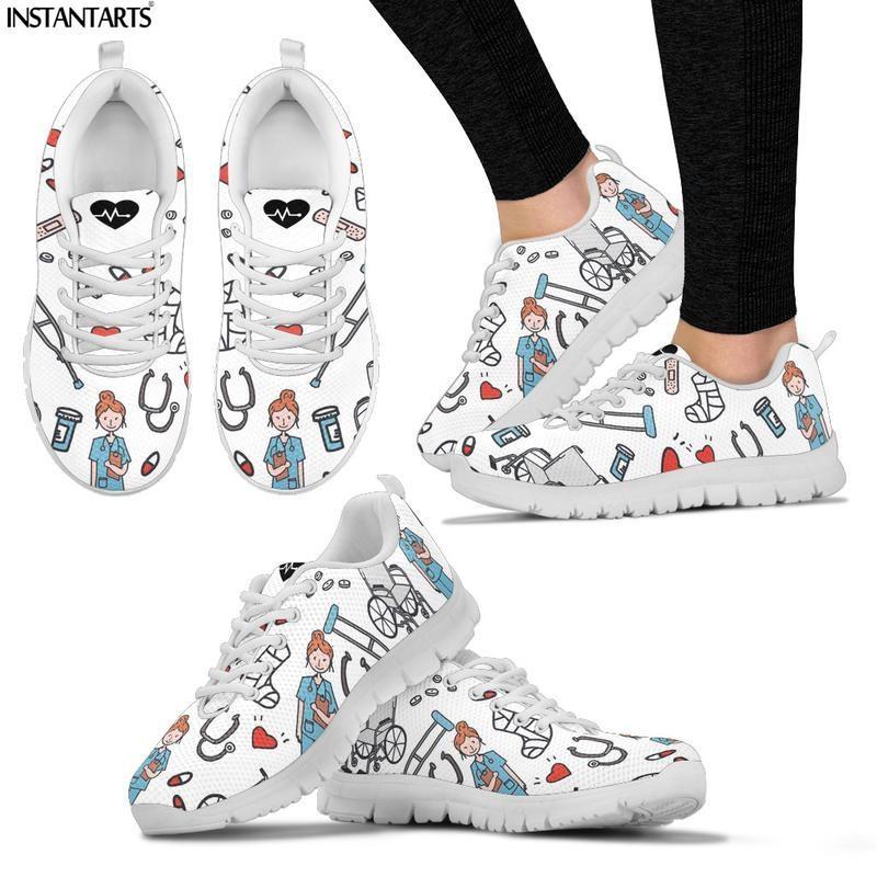INSTANTARTS Hot Nursing Shoes Women