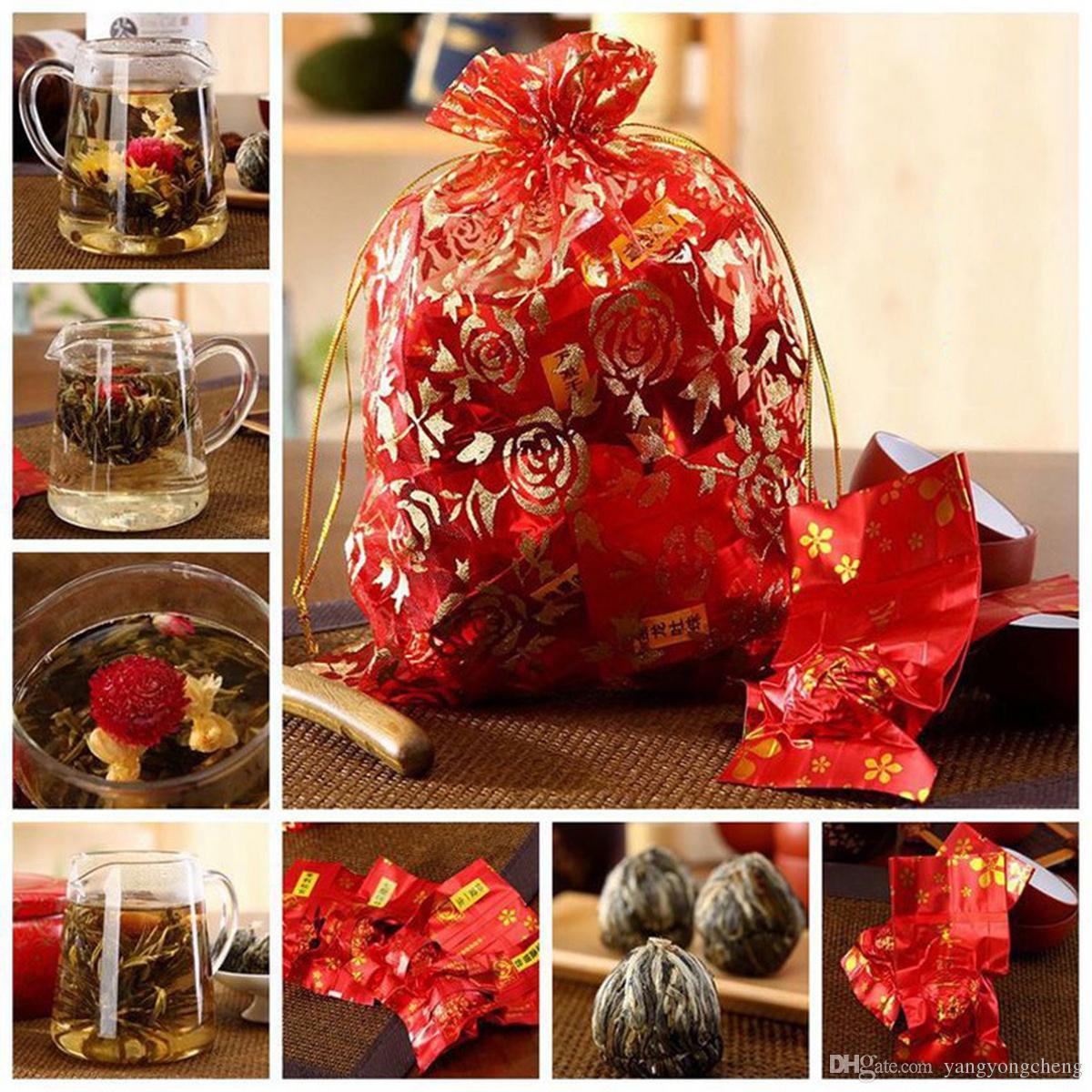130g Chinese 16 Kinds of Handmade Blooming Flower Tea Herbal Great Fragrant Green Tea Herbal Scented Flower Botanical Herbs Green Food