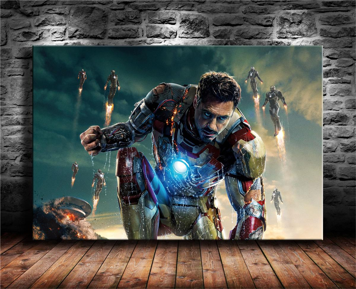 Iron Man Oil Painting Original Art Hand-Painted Canvas NOT a Giclee Print 24x36