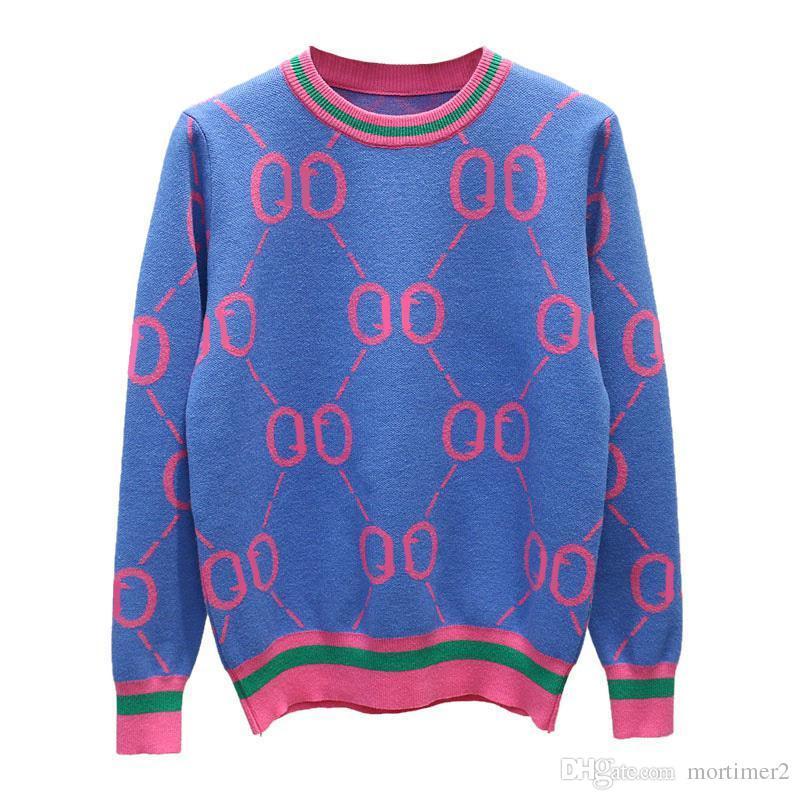 Moda marchio famoso Womens Autunno Inverno Maglioni a maniche lunghe Womens Knitwear Pullover Womens maglioni eleganti Knit Tops