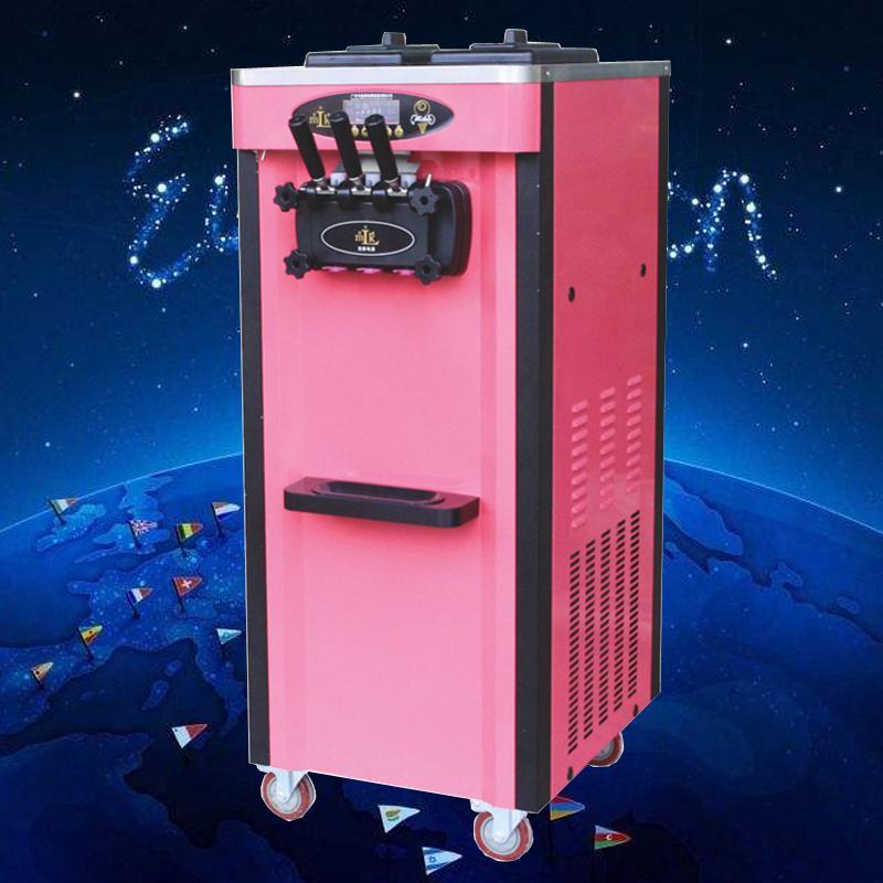 Вертикальная автоматическая машина мороженого Коммерческого мягкое мороженое машины для макияжа мороженого с предварительным охлаждением системы, корпус из нержавеющей стали