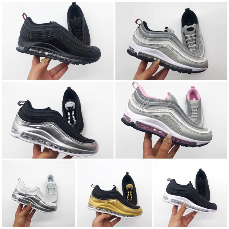 Nike air max 97 Libero di trasporto 2018 nuovi poco costosi dei bambini atletici ragazzi e ragazze delle scarpe da tennis di sport dei capretti Formato dei pattini correnti