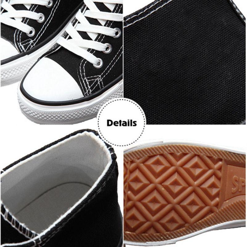 Le donne di scarpe di tela colorata Gallo bassa del poligono in piedi casuale High Top Sneaker Lace Up For Men di