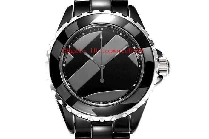 38мм Лучшей керамических Lady часы женщины дизайнерских часов женщина дизайнер часы Swiss Automatic Mechanical 28800 полуколебаний сапфирового стекла