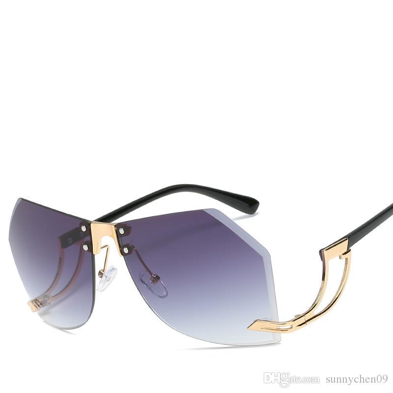 Gafas de sol de estilo europeo con diseño de marca de moda sencilla. Gafas anti-UV.