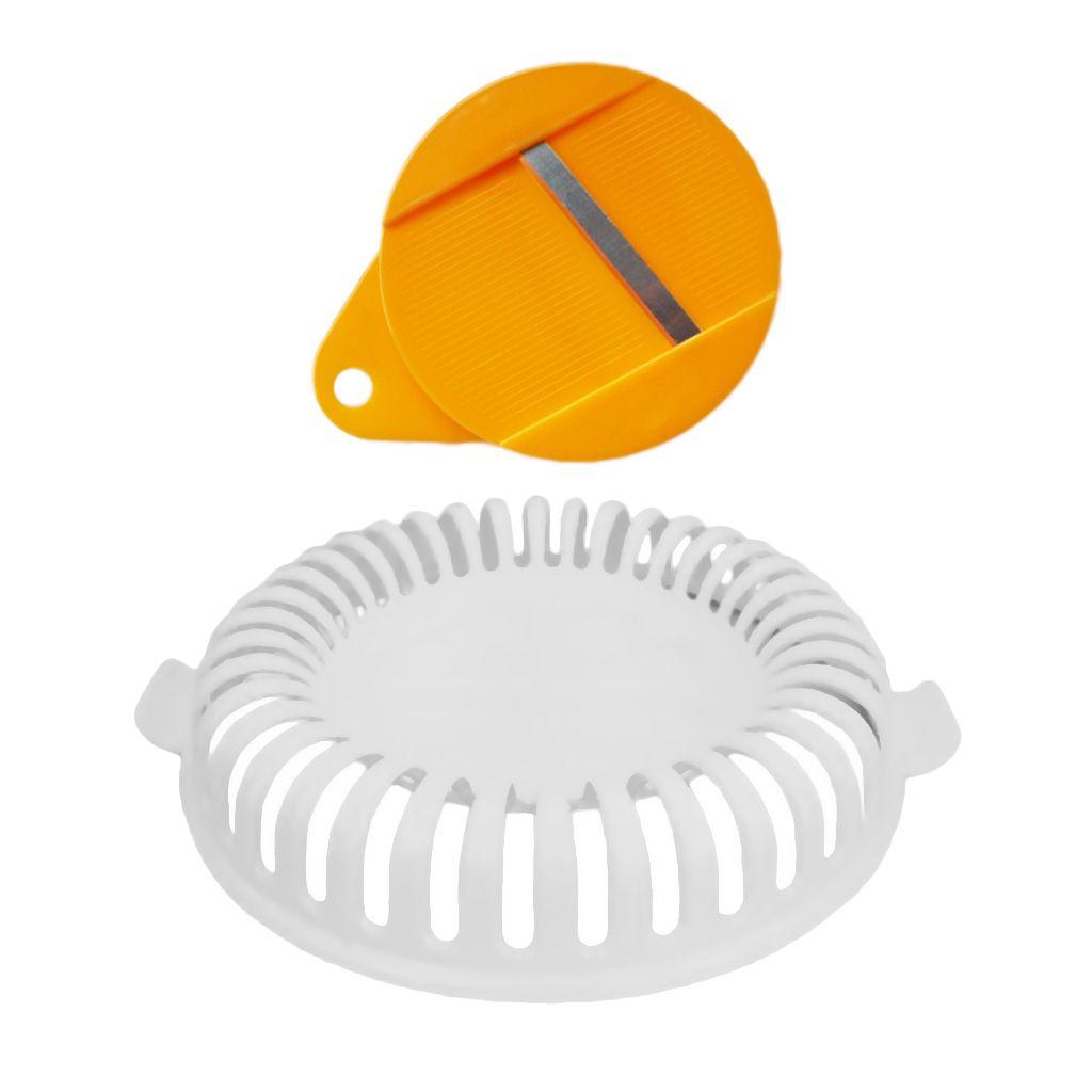 Plastic Microwave Potato Chip Maker Home Baking Tools 20.5x4.5x20.5cm