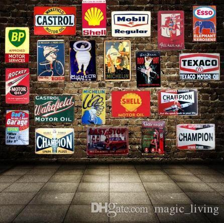 아빠의 BBQ 주석 징후 금속 플레이트 벽 펍 주방 레스토랑 홈 미술 장식 8188 빈티지 벽 스티커 Cuadros DHL 무료