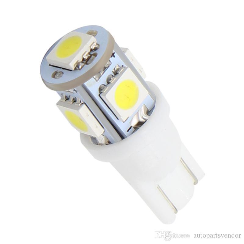 100x T10 llevó la luz del coche W5W 5050 194 168 W5W T10 bombilla LED Auto cuña Liquidación Bulbos lado calza la lámpara T10 W5W para la Licencia de la luz del coche