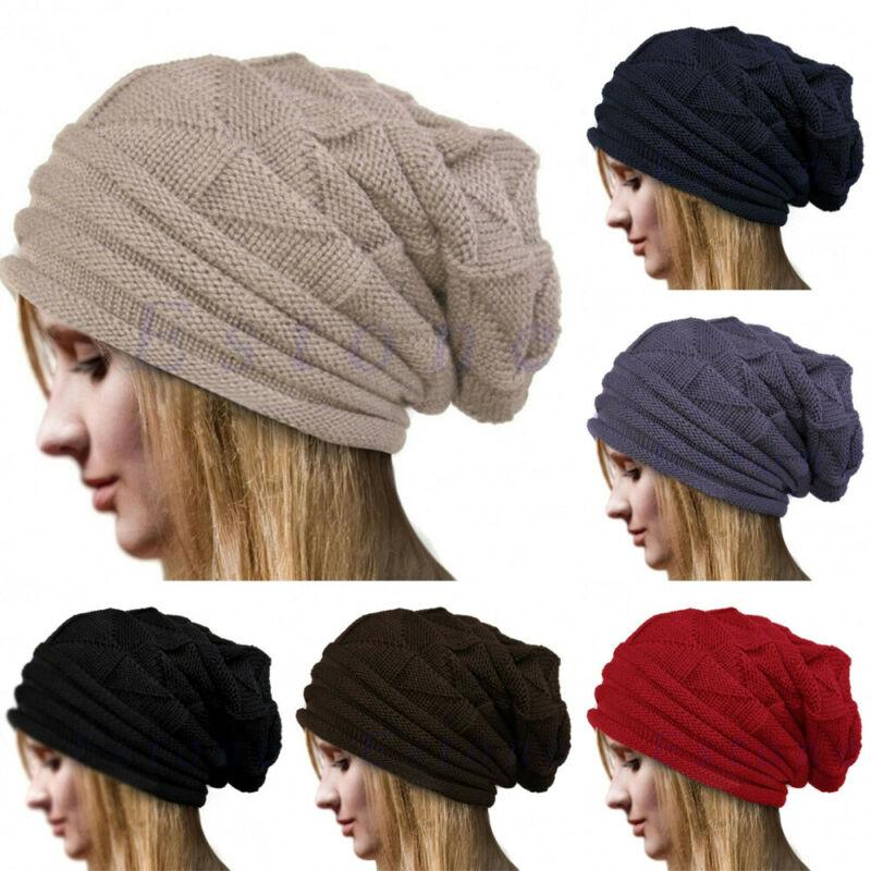 Womans Winter Hat Women Slouchy Beanie Cap Skull Baggy Knit Ski Oversize Fashion