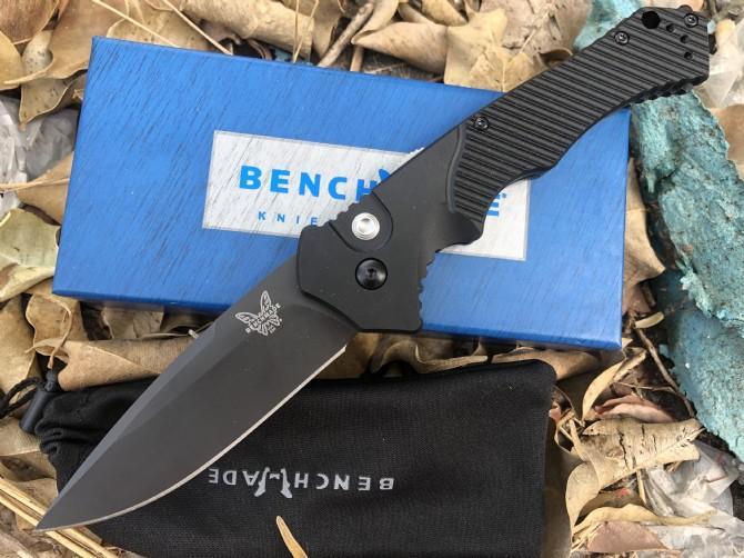 벤치 메이드 9600bk 나무 핸들 전술 자기 방어 접는 EDC 포켓 나이프 캠핑 사냥 칼 크리스마스 선물 a2931