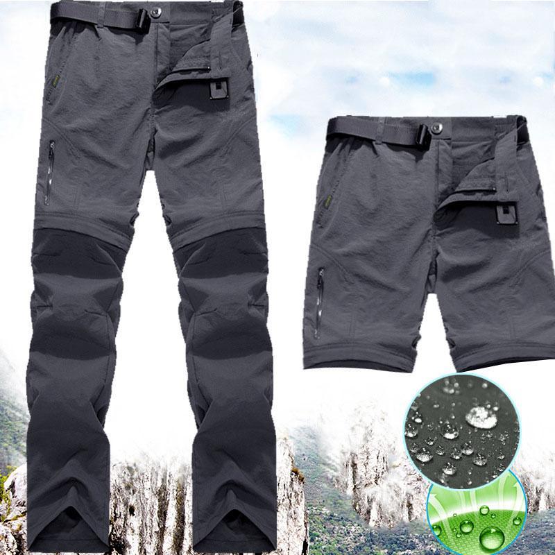Pantalones al aire libre Senderismo delgado Elástico Verano Pantalón de secado rápido de secado rápido Pantalones cortos extraíbles Ciclismo Cargo MÁS TAMAÑO M-4XL