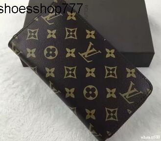 VKX0 de alta calidad de cuero larga cartera de lujo Hombres Mujeres largo monederos Bolsas bolsos de embrague doble cremallera bolsa de la moneda Bolsillos ninguna caja xdf24