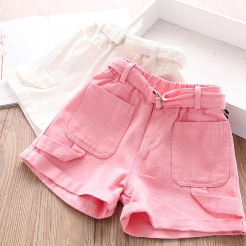 2T-8T Wholesale Children's shorts baby girls clothes Summer New Girl Big pocket design hot pants kids clothes casual shorts L230