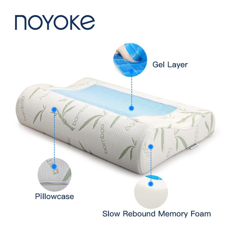 NOYOKE Memory Foam Pillow Gel Bamboo ortopedico cuscino rimbalzo lento pressione cervicale Cuscino per T200603 Sleeping