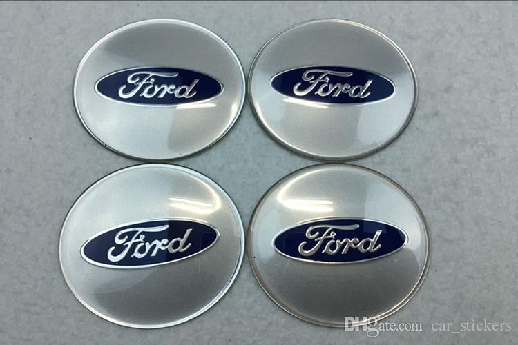 56.5mm 65mm Car Emblem Wheel Center Hub Cap Badge Decal Sticker car styling for Ford Kuga Escape Ecosport Fiesta Mondeo