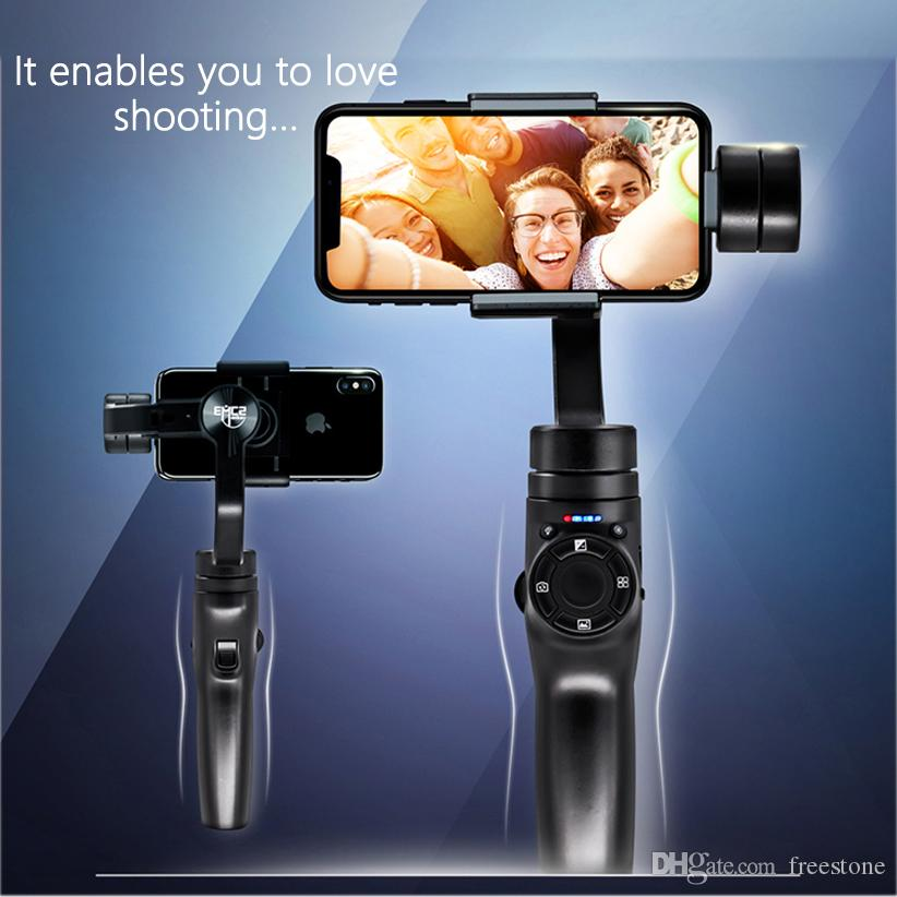3 محور gimbal استقرار للهواتف الذكية كاميرا الفيديو المحمولة الهاتف مع ترايبود شحن مجاني
