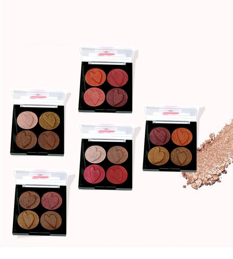 Für den Sommer Samt 4 Farben Pearl Lidschatten-Palette Seidenraupe Augen Make-up wasserdicht Anhaltend glänzend Lidschatten-Palette