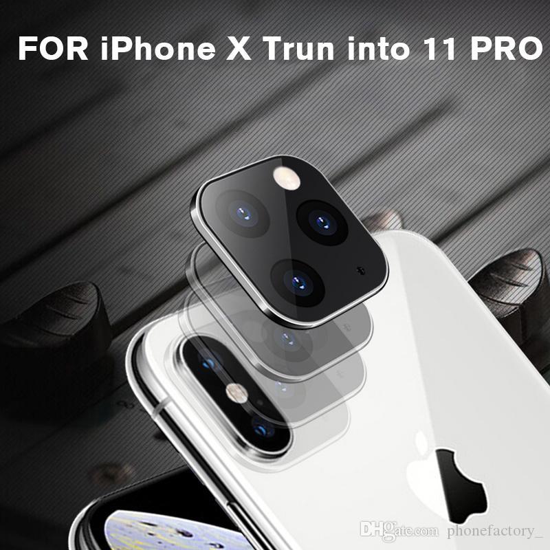 Metall Aluminium-Kamera-Objektiv-Schutz für iPhone X XS Max Sekunden Wechsel zu iPhone 11 Pro Max Perfekte Größe Glasabdeckung