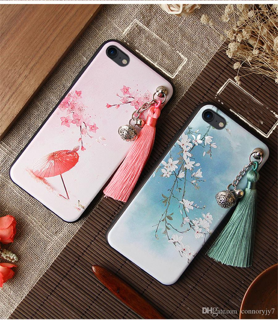 Painted Case For iPhone 11 PRO MAX X enchase Image Pattern Cases Cover For iPhone 11 PRO MAX 8 7 6 6S Plus