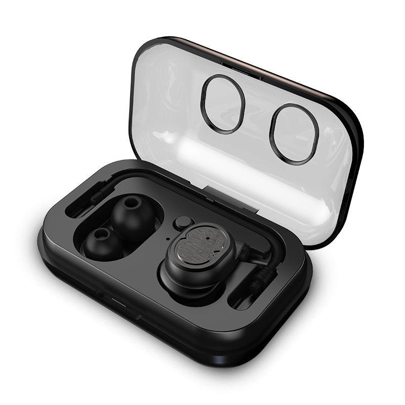 صحيح سماعات الأذن اللاسلكية TWS ستيريو بلوتوث سماعات في الأذن سماعة IPX5 ماء للرياضة أذن واحدة مع فرض حالة