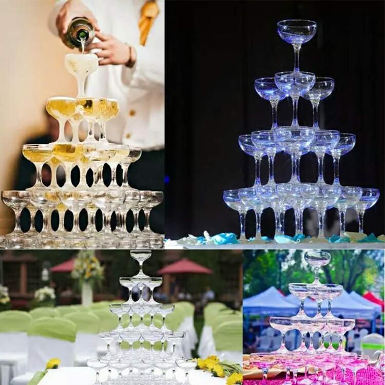 Прозрачный акриловый бокал для шампанского стеклянный стакан 150 мл питьевая чашка виски коктейльная стеклянная чашка кубок барная стойка дискотека свадьба реквизит