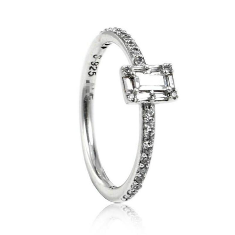 100% plata esterlina joyería Europa y América invierno nuevo anillo femenino nuevo partido pavo partido CZ anillo transparente