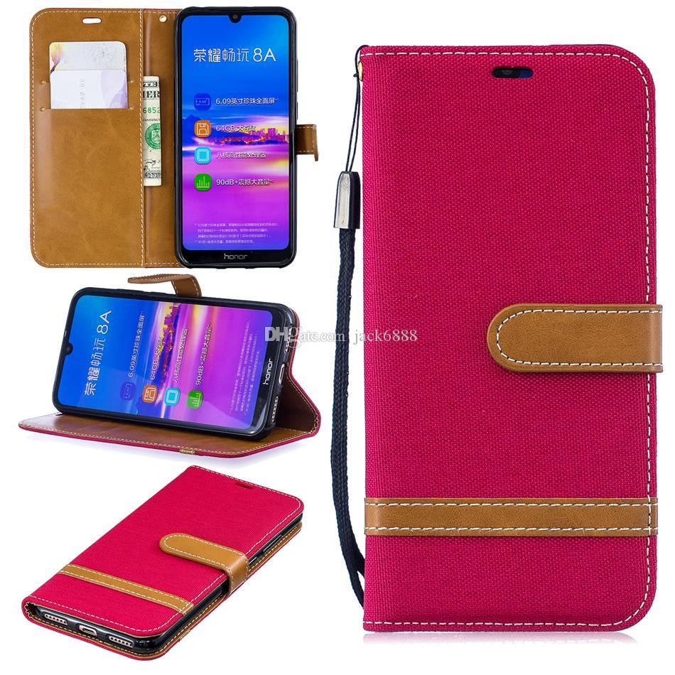 Para Huawei Honor 8A P20 Pro Lite honra 10 Lite flip caso suporte Carteira Cowboy Couro Photo Frame tampa do telefone completa para Samsung