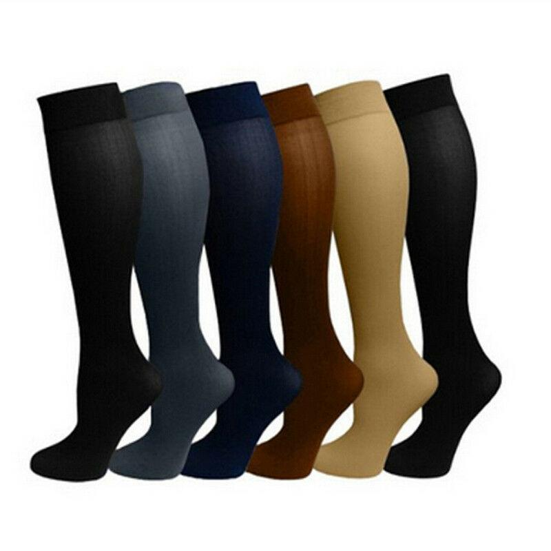 New 1 Pair Unisex Socks Compression Stockings Pressure Varicose Vein Stocking knee high Leg Support Stretch Pressure Circulation