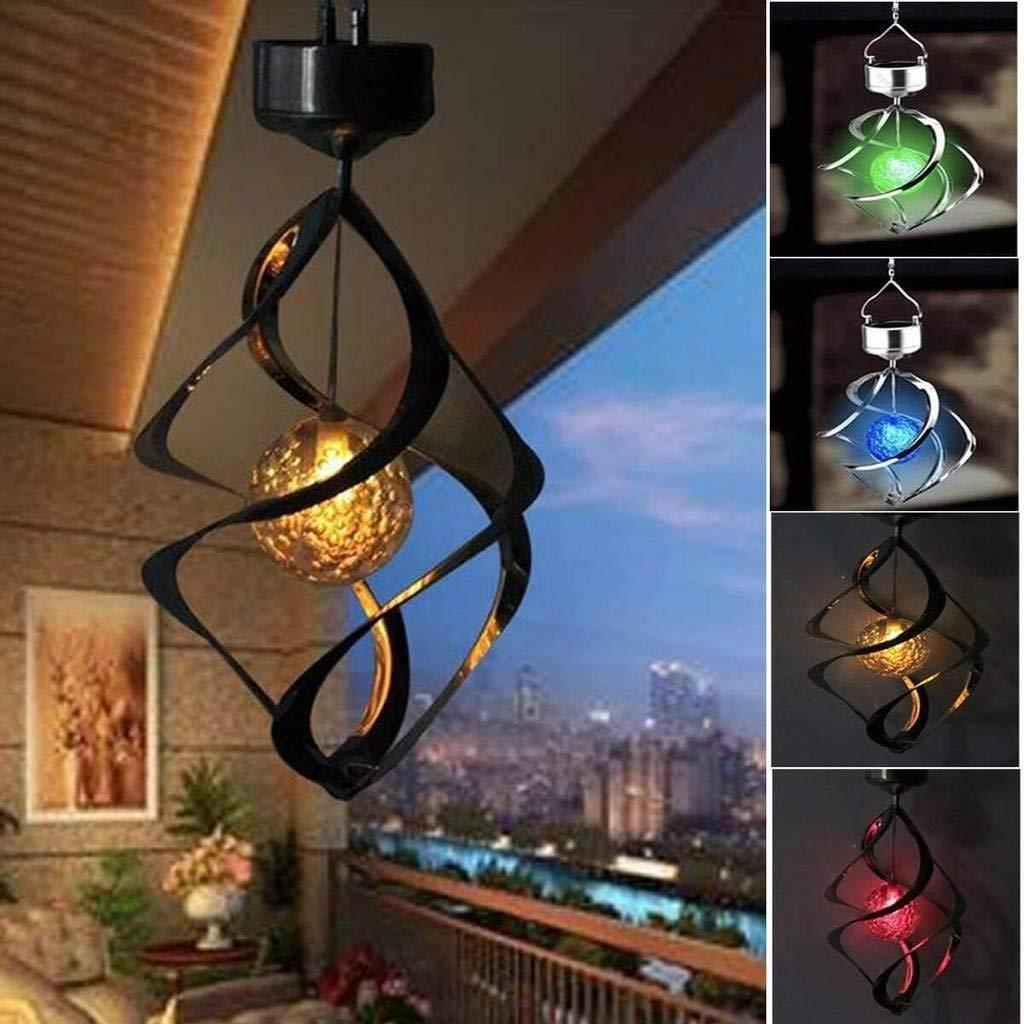 1pc Solar LED Hanging Lantern Light Waterproof Outdoor Garden Yard Lamp Decor US