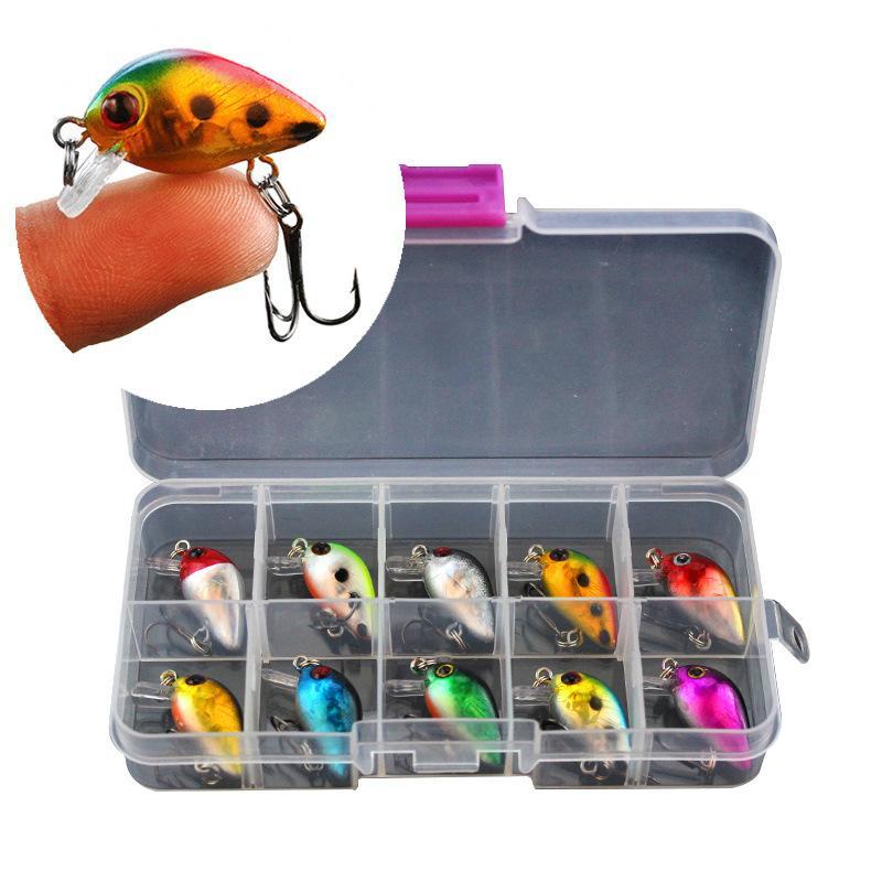 Рыбалка мини Мино 3см 1.5 г 10 цвет рок жирная приманка Луя поддельные приманки бионические приманки оптом