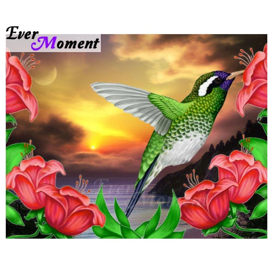 vente en gros peinture de diamant 5D bricolage image de pierres de strass plein carré forage diamant broderie oiseau fleur mosaïque S2F1769