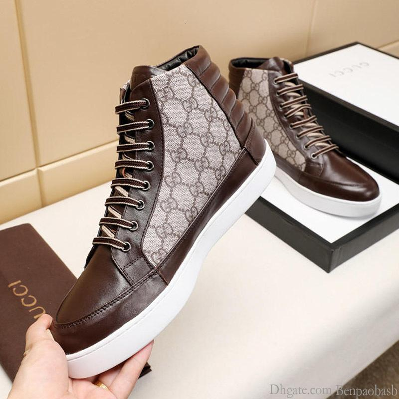 2019 high quality leather high men s casual shoes men s travel and leisure sports lace original box a generation