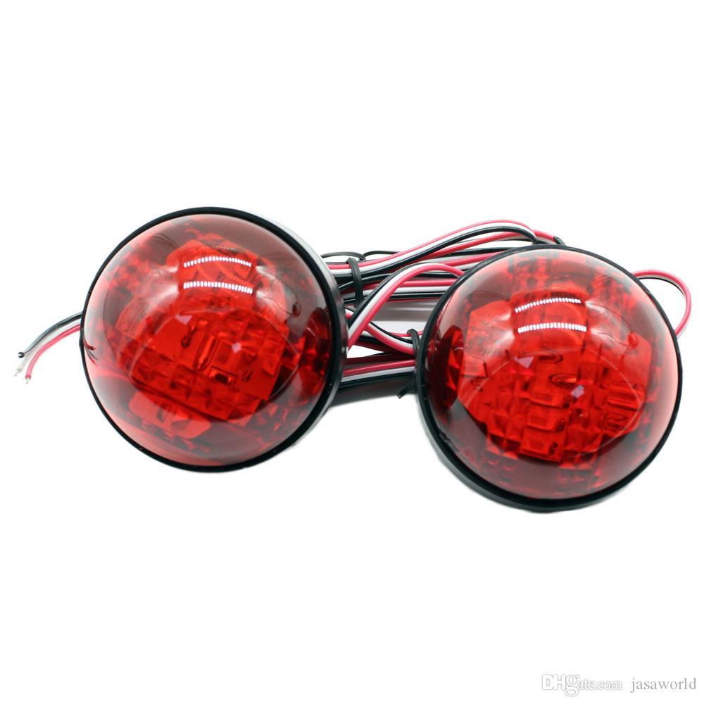 2 шт. автомобиль LED парковка BrakeTail свет круглый фонарь отражатели лампы заднего бампера отражатель огни для 2007-2010 Toyota Corolla Королла
