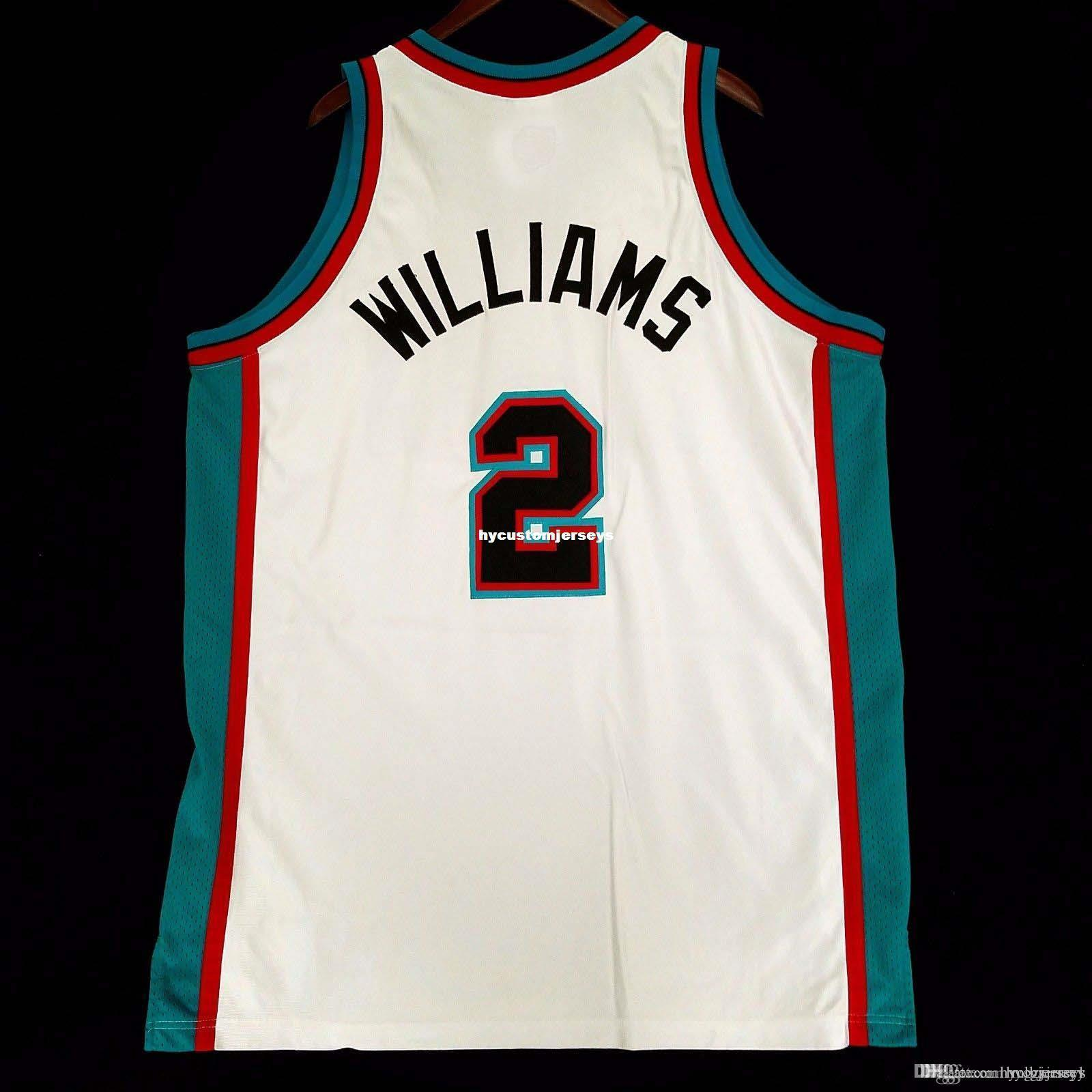 100% cosido # 2 Jason Williams Tamaño Rbk mayor Jersey Hombres Chaleco Blanco XS-6XL cosido jerseys de baloncesto NCAA