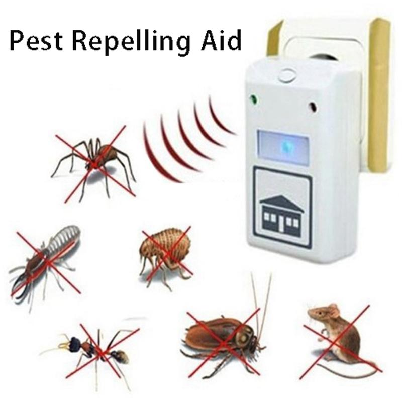 Électronique à ultrasons Pest Reject Pest Repousser Aide lutte contre les ravageurs des ménages Rats Souris Spiders animaux Repeller Mouse Trap DBC BH3655