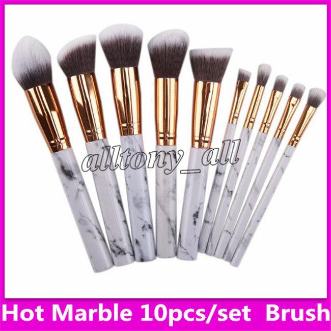 Maquillage en marbre chaud blush poudre sourcils eyeliner point culminant fond de teint correcteur de maquillage maquillage jusqu'à 10pcs / set set