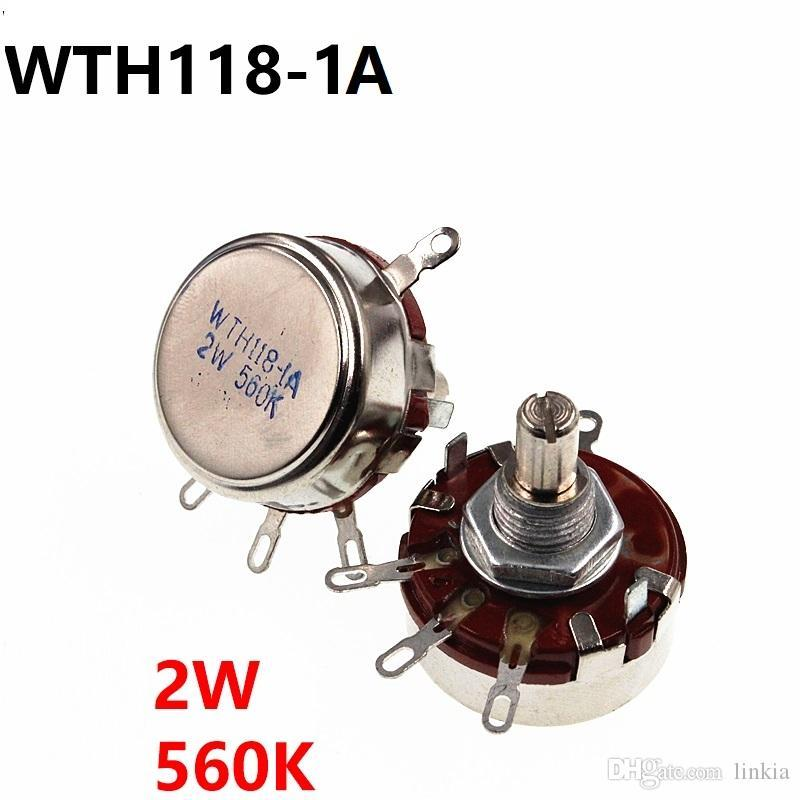 WTH118 2W 560K однооборотный углеродная пленка потенциометра