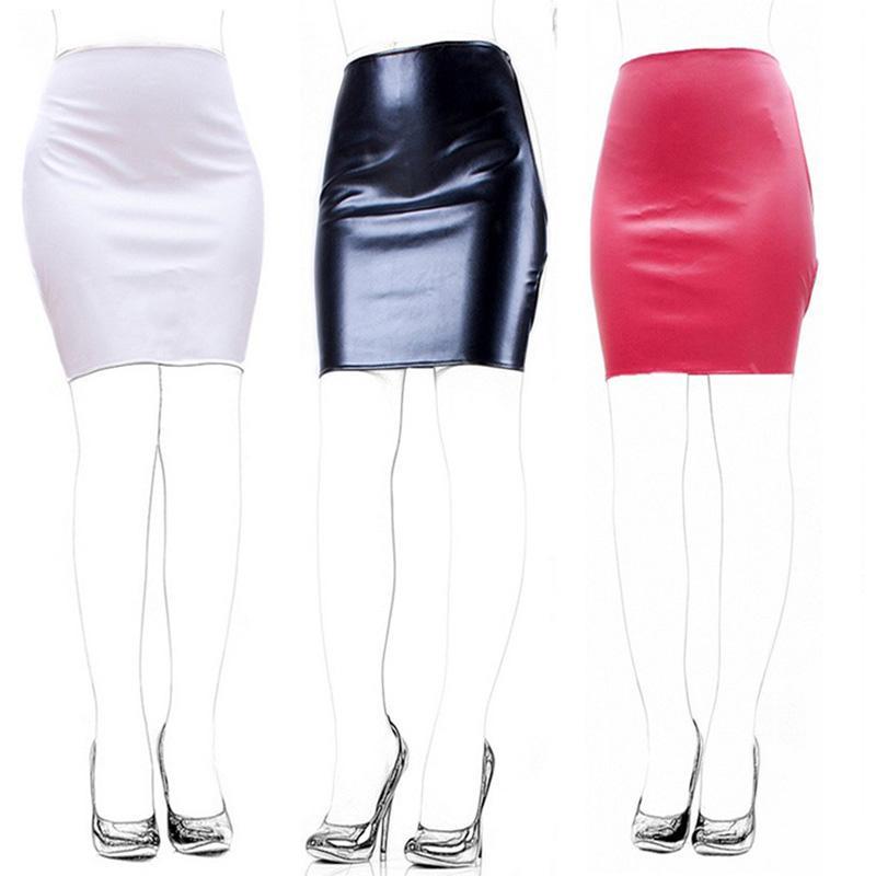 valentine latex spanking skirt high waist variety of colours fetish