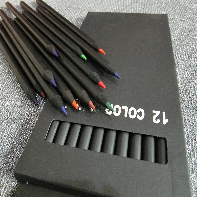 2018 Renkli Kalemler Boyama Kalemleri Setleri çizim için 12 sayım farklı renk Kırtasiye Ofis okul malzemeleri