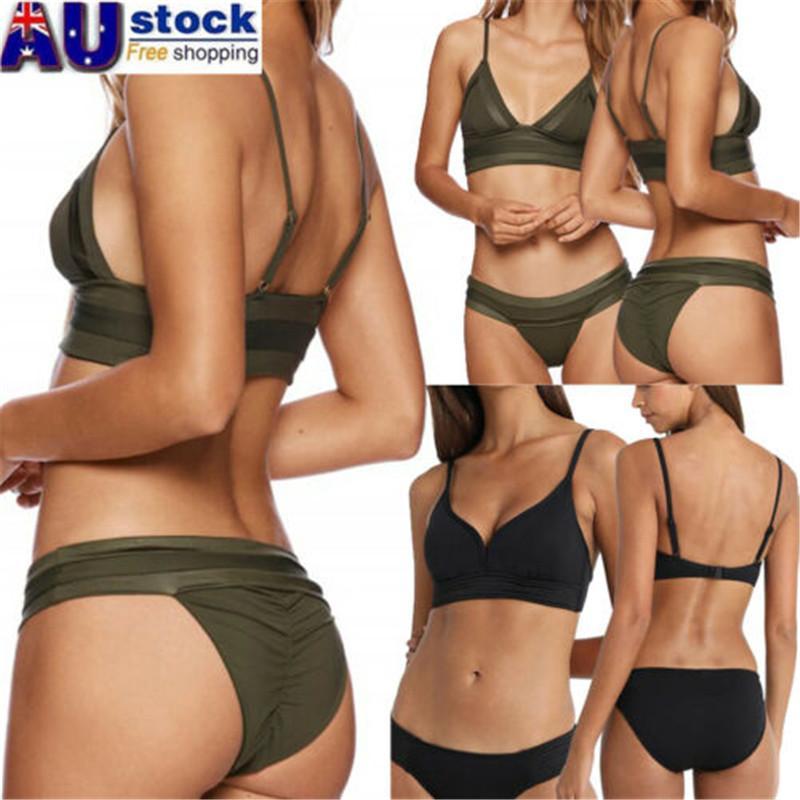 Set Women Bikini Set Brazilian Swimsuit Bathing Suit Swimwear Beachwear Bra Tops