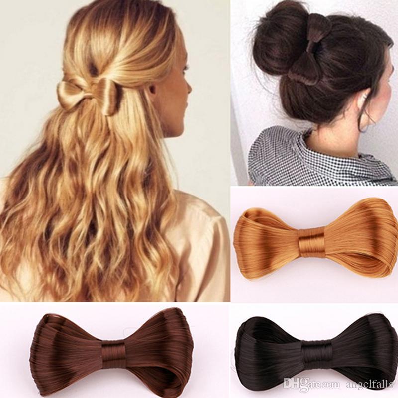 Mujeres Bowknot Peluca Pinza de pelo Multicolor Barrettes de pelo Moda Accesorios de pelo Regalo para el amor de novia Epacket envío