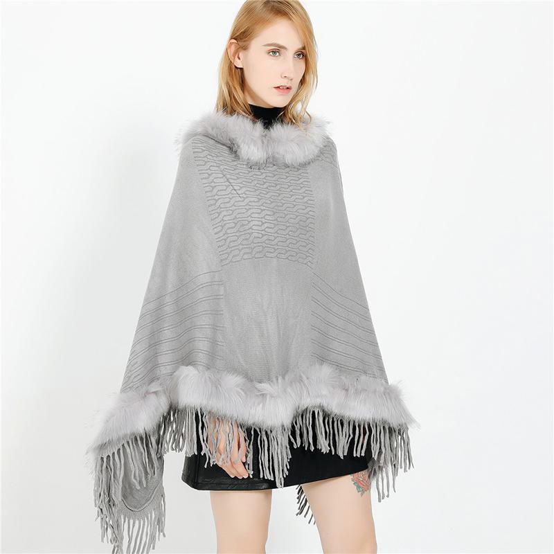 Winter Women Bridal Wedding Shawl Wrap Stole Cape Luxury Faux Fur Shawl Wraps Cloak Winter Coat Sweater Coat Jackets for Wedding Party