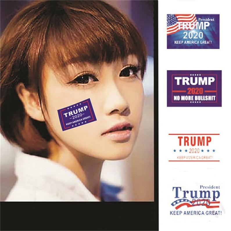 US Donald Trump 2020 Face Sticker Decals Keep America Great NO MORE Letter Wall Vinyl Decal Stickers 32 Stickers Per Piece E3306